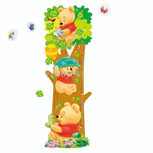 Winnie The Pooh - Wandsticker - Wandtattoo - Sticker - Messlatte - Biene  Raupe - Baum -