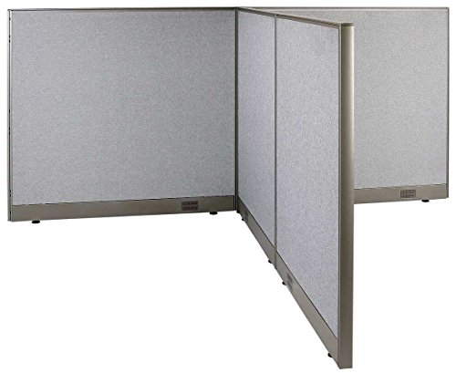 GOF T-Shaped Freestanding Partition 72d x 96w x 48h / Office, Room Divider by GOF