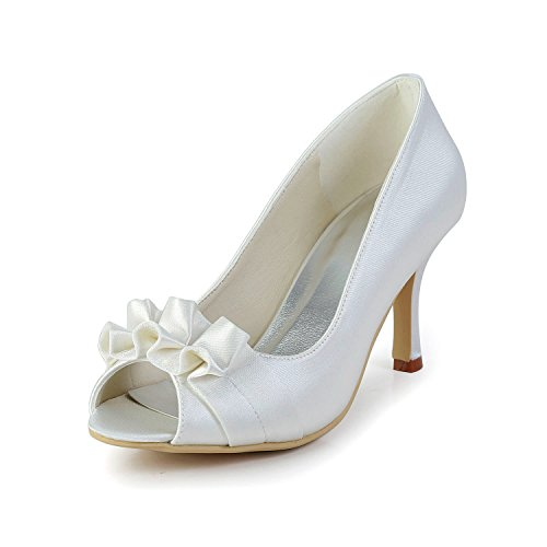 8cm pour Sandales White Heel femme Minitoo blanc qxPBAapAWw