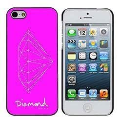 Diamond Supply 15 Hot Pink With White Diamond iphone 5/5s Case