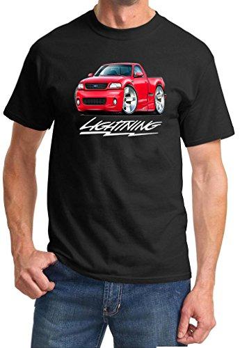1999-04 Ford SVT Lightning F150 Truck Full Color Design Tshirt Large Black