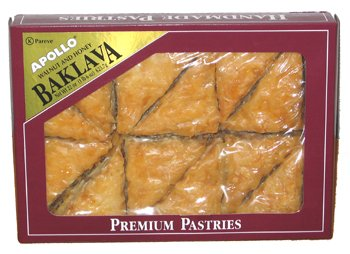 Baklava Greek Pastry - Apollo Baklava 22 oz box (12 pcs)