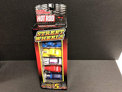 HOT ROD Magazine Racing Champions Street Wheels Dynamite #26 Die Cast 5 pack with 1934 Ford 1941 Willys 1956 Nomad 1949 Mercury 1940 Ford Pickup