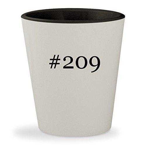 #209 - Hashtag White Outer & Black Inner Ceramic 1.5oz Shot Glass