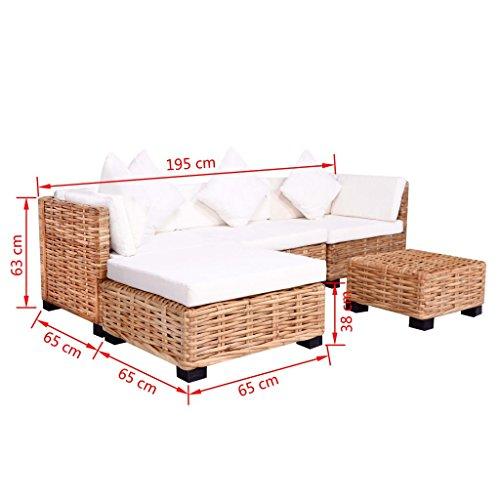 Festnight 18-TLG. Lounge Sofa Gartensofa Lounge Set ...