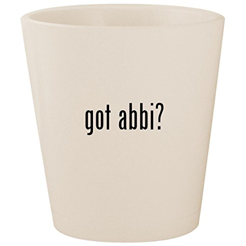 Used, got abbi? - White Ceramic 1.5oz Shot Glass for sale  Delivered anywhere in USA
