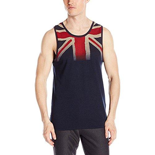 Ben Sherman Men's Uk Union Jack Tank Top, Navy Blazer, - Top Designer Men