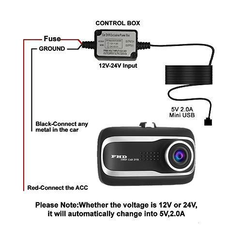 amazon com mini usb micro usb dash cam hardwire kit with mini lp rh amazon com