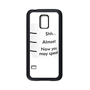 HOT sale, Funny quotes - Shhh Almost Now You May Speak picture for black Plastic and TPU Samsung Galaxy S5 mini case