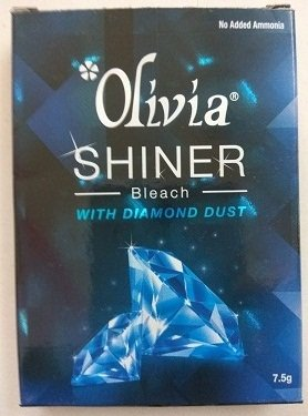 Amazon.com : Olivia SHINER BLEACH With DIAMOND DUST No Ammonia Added (7.5g X 2=15gms)  : Beauty