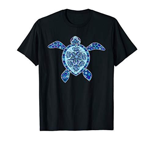 Summer Shirts for Family Members Sea Flower Turtle - T-shirt ()