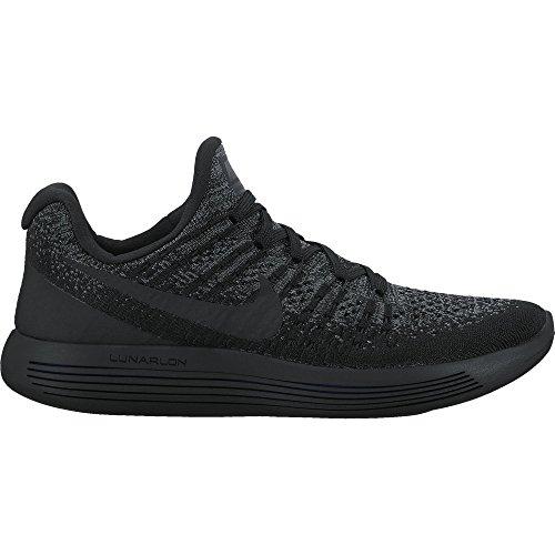 Nike Kvinnor Lunarepic Låg Flyknit 2 Löparsko Svart / Svart-mörkgrå-racer Blå 10,0