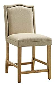 Coaster Home Furnishings Traditional Counter Height Chair, Dark Brown, Set of 2