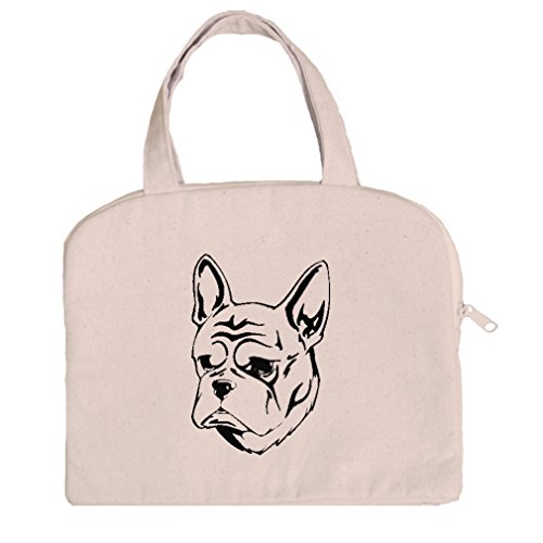 Tablet Bag Case Canvas Handles French Bulldog Head Black By Style In Print (French Bull Tablet Case)