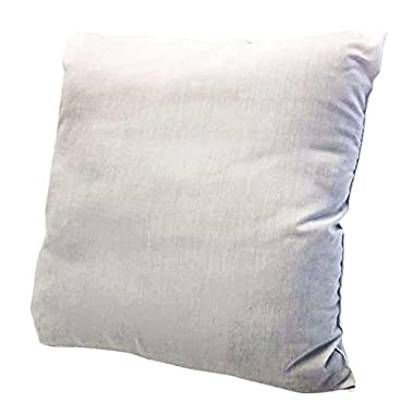 Ram Home Pillow Insert Polyester Made, Machine Washable Odorless and Hypoallergenic, 18  W x 18  L, White
