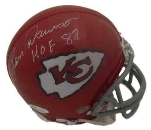 - Len Dawson Signed Mini Helmet - HOF 14586 - JSA Certified - Autographed NFL Mini Helmets