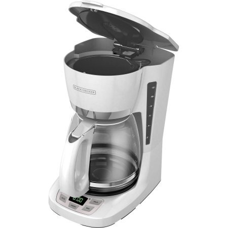 Black & Decker 12-Cup Programmable Coffee Maker QuickTouch Programming Easily Sets the Time ...