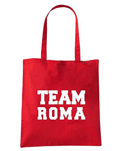 T-Shirtshock - Bolsa para la compra OLDENG00782 team roma Rojo