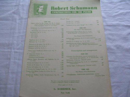 IMPORTANT EVENT ROBERT SCHUMANN 1945 SHEET MUSIC SHEET MUSIC FOLDER 414 (Event Folder)