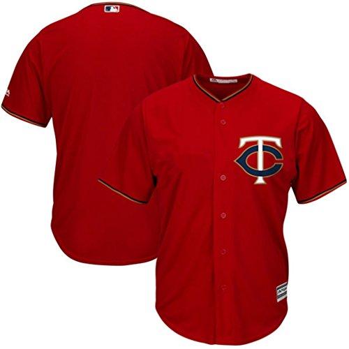 Minnesota Twins MLB Mens Majestic Cool Base Jersey Red Big & Tall Sizes (Majestic Red Jersey)