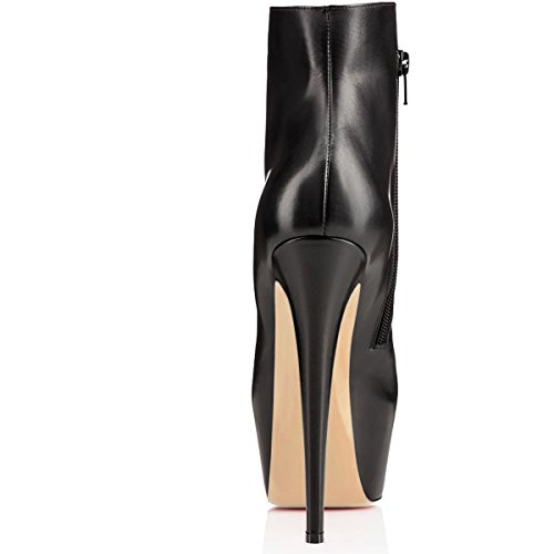 Talons Classiques Hauts Femme Chaussures Bottines Plateforme Edefs À Noir Bottes UPwZ05q