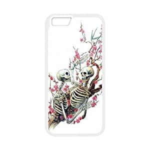 Diy Flower Sugar Skull Custom for iphone 6 (4.7 inch) White Shell Phone Case LIULAOSHI(TM) [Pattern-1] by Maris's Diary