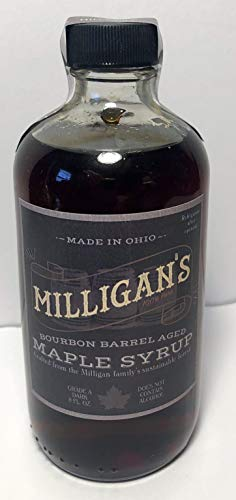 - 100% Pure Maple Syrup Bourbon Barrel Aged Crafted from an Ohio Family's Sustainable Forest - 8oz