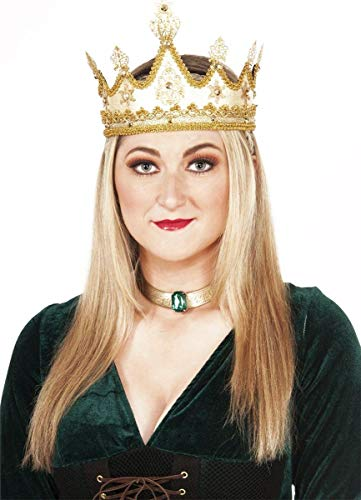 Forum Novelties 73637 Adult Medieval en Queen Crown, One Size, Gold