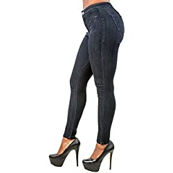 Poetic Justice Women's Curvy Fit Blue Stretch Denim Basic High Waist Slim Jeans Size 28 x 29Length