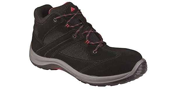 Delta Plus virages1p Alta Zapatos para Hombre Trabajo de Seguridad para no metálicos Calzado, Color Negro, Talla 35.5: Amazon.es: Zapatos y complementos