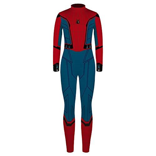 Elakaka Spiderman Homecoming Costume,Spider Gwen Stacy Costume Kids for 7-14 Years -