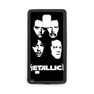 Metallica 012 funda Samsung Galaxy Note 4 Negro de la cubierta del teléfono celular de la cubierta del caso funda EOKXLKNBC27629