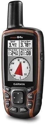 Garmin 64S - GPS de mano (mapas del Reino Unido), naranja (importado)