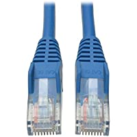 Tripp Lite Cat5e 350MHz Snagless Molded Patch Cable (RJ45 M/M) - Blue, 2-ft.(N001-002-BL)