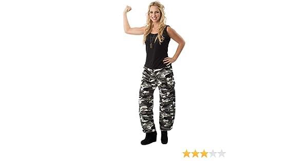 ORION COSTUMES Disfraz Pantalón de Combate Camuflado Chica Soldado ...