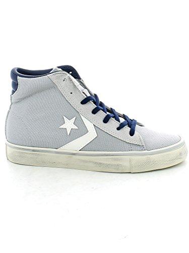 Converse 156799C Pro Leather Vulc Mid Canvas, sneaker unisex, ASH GREY/TURTLE DOVE/NAVY (36)
