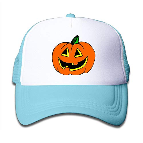 Halloween Pumpkin Clipart On Children's Trucker Hat, Youth Toddler Mesh Hats Baseball Cap]()