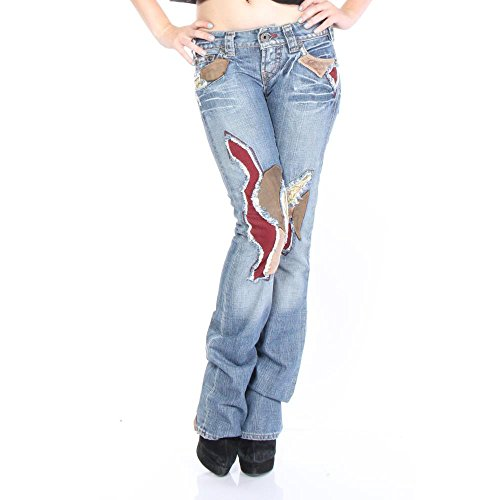 1921 Denim Jeans - 1921 AL03-KS Regular Straight Jeans 25/34 Blue Women