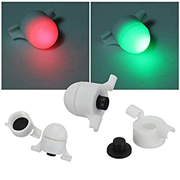 4PCS Electronic Fish Bite Strike Alarm LED Night Fishing Light+Waterproof lock