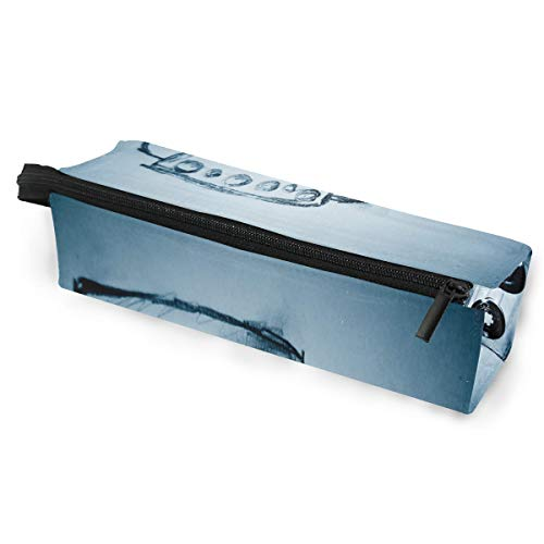 Audio Matx - Glasses Case Retro Audio Cassette Music Multi-Function Zippered Pencil Box Makeup Cosmetic Bag for Women/Men
