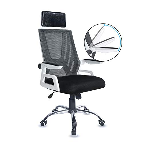 Home Office Desk Chair Tiptiper Mesh Ergonomic Office Chair, High Back Mesh Computer Chair with 120° Reclining Swivel and 90° Adjustable Armrest