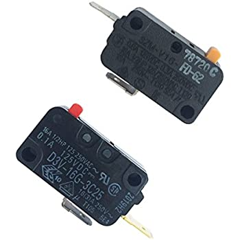 lonye wb24x829 wb24x830 microwave door switch set for ge kenmore microwave  d3v-16g-3c25 szm-v16-fd-62