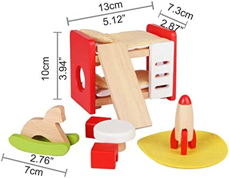 toys, games, dolls, accessories, dollhouse accessories,  furniture 1 picture Hape Wooden Doll House Furniture Children's Room promotion