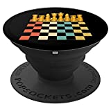Vintage Chess Board Game Checkmate Gift - PopSockets Grip and Stand for Phones and Tablets