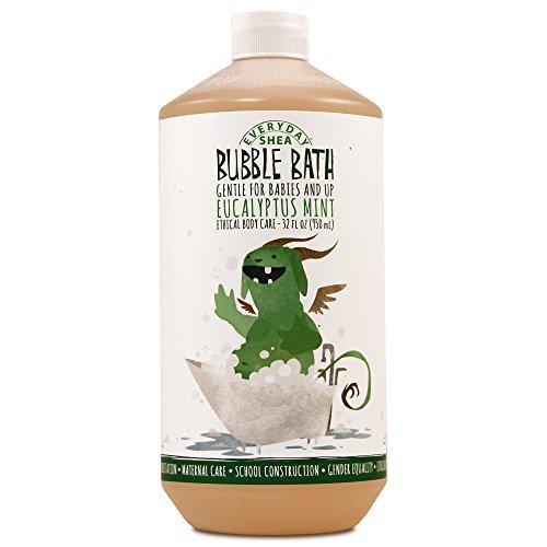 Alaffia - EveryDay Shea - Moisturizing Shea Butter Bubble Bath for Babies, Eucalyptus Mint, 32 Ounces (FFP)