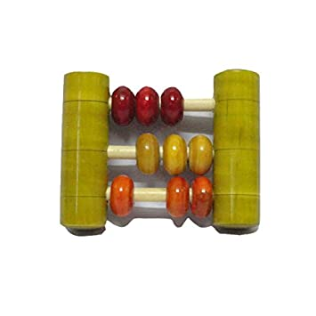 Funwood Games Junior Abacus Wooden Rattle for kids Rattles & Plush Rings at amazon