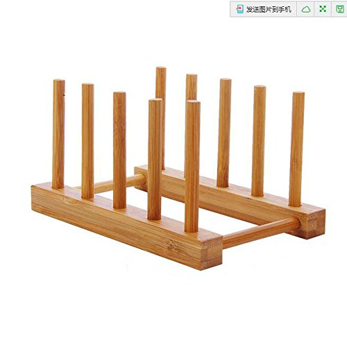 E Support Bamboo Dish Plate Rack Dishes Drainboard Drying Dr