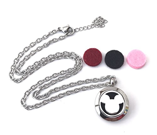 [Child Mickey Mouse Essential Oils Diffuser Necklace With 3 Pads set Perfect for Aromatheraphy Oil] (Hercules Costume Couple)
