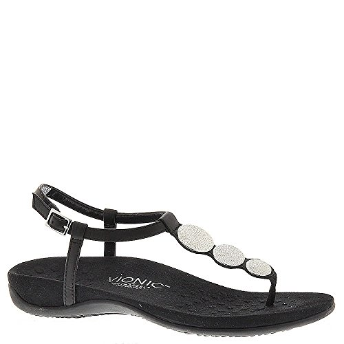 s T-strap Orthotic Sandal Black - 9 ()