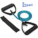 Izoo® Toning Tube Pull Rope with Door Anchor (20 lbs, 25 lbs, 30 lbs) | Sports Resistance Bands | Ideal for Physical Therapy, Pilates, Yoga, Strength Training and Muscle Toning